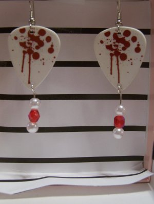 Paintball splatter picks GUITAR PICK EARRINGS!