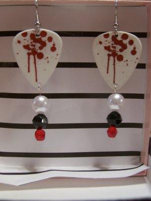 Paintball splatter 2 GUITAR PICK EARRINGS!
