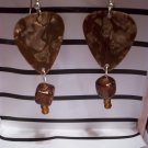Tan picks 2 GUITAR PICK EARRINGS!