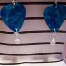 Pearl Blue picks 2 GUITAR PICK EARRINGS!