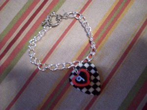 Nascar - Kasey Kahne toggle clasp bracelet GUITAR PICK checkered