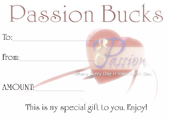 Passion Bucks (12/$5.00)