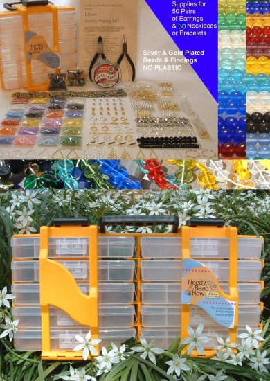 Jewlery Making Kit Business Kit   Full Crafters Kit  Beads & Tools