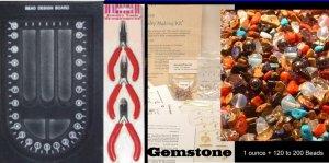 Jewelry Making KIT GEMSTONE 3 Tools and Beads Free USA Shipping