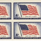 4 CENT OLD GLORY 48 STAR PLATE BLOCK--US STAMPS