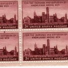 SCOTT # 943 PLATE BLOCK. US STAMPS-SMITHSONIAN INSTITUTION.