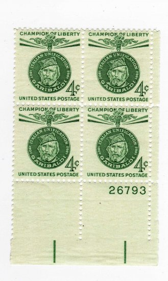 USA SCOTT# 1168 CHAMPION OF LIBERTY PLATE BLOCK-U S STAMP