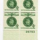 USA SCOTT# 1168 CHAMPION OF LIBERTY PLATE BLOCK-U S STAMP