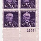 USA SCOTT# 1170 PLATE BLOCK WALTER F. GEORGE U S STAMP