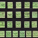 USA SCOTT# 804 1 CENT USED STAMPS, GEORGE WASHINGTON, PA, PENN,  lot # 202