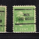 USA SCOTT# 804, ERRORS, PRECANCLED UP SIDE DOWN (lot#207)