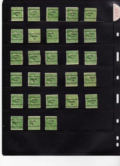 usa scott# 839, precanceled stamps, Chicago, Ill. (lot# 208)