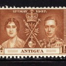 SCOTT# 81, 82, 83 ANTIGUA-3 STAMP SET-1937 CORONATION ISSUE