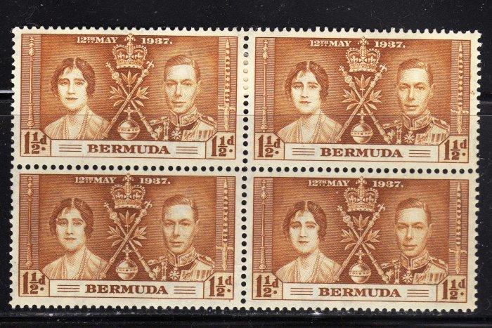 SC0TT# 116 BERMUDA, KING GEORGE Vl CORONATION ISSUE