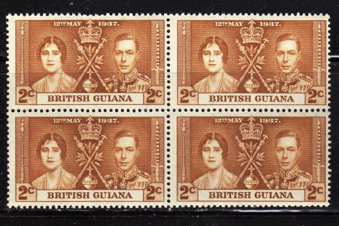 SC0TT# 227, BRITISH GUIANA KING GEORGE Vl CORONATION ISSUE