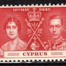 SC0TT# 140, 141, 142 CYPRUS STAMPS KING GEORGE Vl CORONATION ISSUE