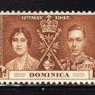 SC0TT# 94, 95, 96- DOMINICA STAMPS KING GEORGE Vl CORONATION ISSUE