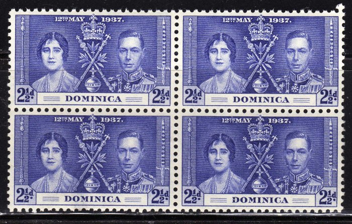SC0TT# 96 - DOMINICA STAMPS KING GEORGE Vl CORONATION ISSUE