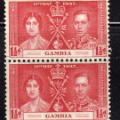 SC0TT# 130- GAMBIA STAMPS KING GEORGE Vl CORONATION ISSUE