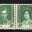 SC0TT# 104,- GIBRALTAR STAMPS KING GEORGE Vl CORONATION ISSUE