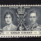 SC0TT# 112 113 114 GOLD COAST STAMPS KING GEORGE Vl CORONATION ISSUE
