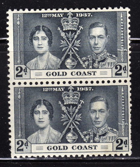 SC0TT# 113 GOLD COAST STAMPS KING GEORGE Vl CORONATION ISSUE