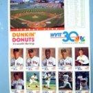 1992 Boston Red Sox Dunkin Donuts WVIT TV Channel 30 Card Set