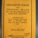 Constitution Rules Brotherhood Railroad Trainmen 1925