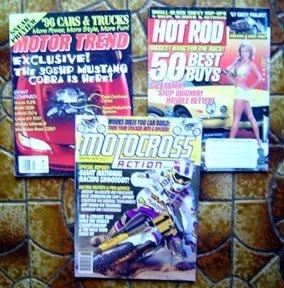 Motocross / Hot Rod / Motor Trend Magazines 3 1990's