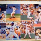1988 Uncut Sheet 8 Mets & Red Sox Clemens Boggs Gooden