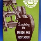 Chevrolet Servicing Tandem Axle Suspension Book 1957