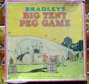 Vintage 1931 Bradleyu0027s Big Tent Circus Peg Game & 1931 Bradleyu0027s Big Tent Circus Peg Game