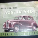 Vtg 1950s Auston A40 Devon Dorset Auto Sedan Brochure