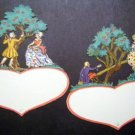 (2) Valentine Die Cuts Victorian Man & Woman Germany