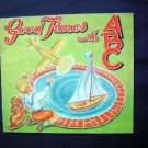 1946 Good Times with ABC Linen Book Gabriel Sons EX
