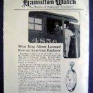 Jan 1921 Hamilton Watch Harpers Advertisment
