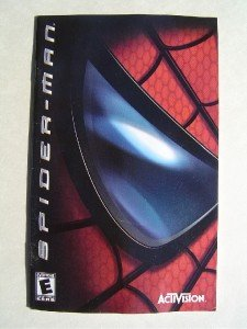 Video Booklet Manual ONLY for Spiderman ActiVision