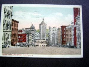Looking Down State Street Albany New York Post Card