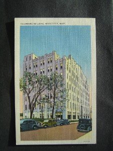 Telephone Building Worcester Mass  Post Card