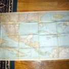 National Geographi Map 1939 Mexico Cen America W Indies