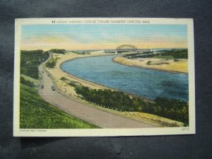 Scenic Highway Looking Towards Sagamore Cape Cod Mass