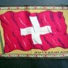Circa 1900 Switzerland Tobacco Nation Flag Felt Blanket