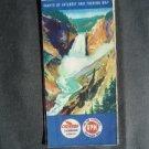1956 CHEVRON Gasoline Road Touring Map Wyoming