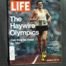 SEP 22 1972 LIFE MAG The Haywire Olympics Frank Shorter