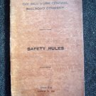 March 16 1926 N Y Central Railroad Co ~ SAFETY RULES