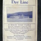 1930 Hudson River Steamer Day Line Fares & Time Table