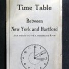 May 27 1929 HARTFORD LINE Time Table New York Hartford
