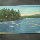 Bathing Beach Onata Lake Pittsfield~Mass Postcard