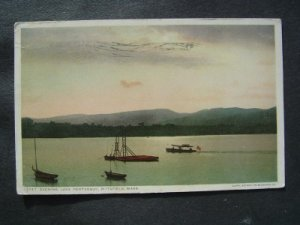 Evening Lake Pontoosuc Pittsfield  Mass Postcard