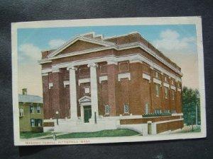 Masonic Temple   Pittsfield  Mass  Postcard
